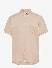 Les Deux - Leonardo Tencel Twill SS Shirt - chemises de lin - dark sand - 0