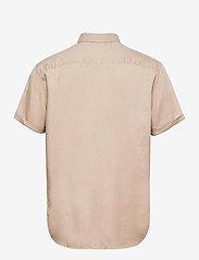 Les Deux - Leonardo Tencel Twill SS Shirt - chemises de lin - dark sand - 1