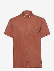 Leonardo Tencel Twill SS Shirt - RUST RED