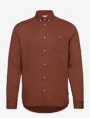 Laurent Tencel Twill Shirt - RUST RED
