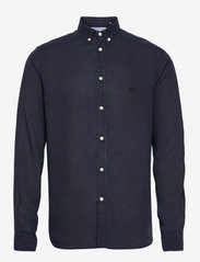 Christoph Tencel Dobby Shirt - DARK NAVY