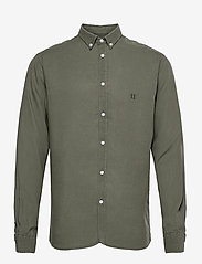 Christoph Tencel Dobby Shirt - LICHEN GREEN