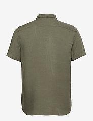Les Deux - Harvey Tencel Dobby SS Shirt - chemises de lin - lichen green - 1