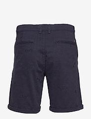 Les Deux - Pascal Embroidery Chino Shorts - chinos shorts - dark navy - 1