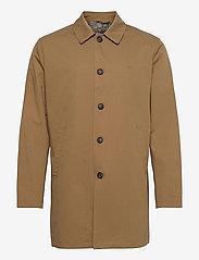 Les Deux - Marley Cotton Coat - wełniane płaszcze - stone brown - 0