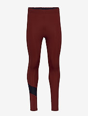 Les Deux - Men's Long Tight Sogndal - running & training tights - clay red - 0