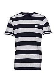 Levoir T-Shirt - SNOW MEL./NAVY