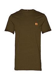 Piece T-Shirt - DARK OLIVE GREEN/BURNT ORANGE
