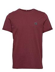 Piece T-Shirt - 6536-BURGUNDY/CHARCOAL
