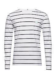 Betrois LS T-Shirt - WHITE/NAVY