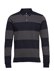 Polier Polo LS - DARK NAVY/CHARCOAL