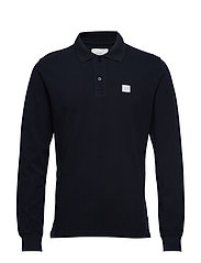 Piece LS Polo - DARK NAVY/WHITE