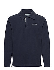 Dallas Fleece Rugby Sweatshirt - DARK NAVY