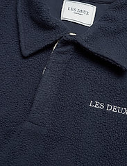 Les Deux - Dallas Fleece Rugby Sweatshirt - basic-sweatshirts - dark navy - 2