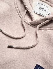 Les Deux - Piece Hoodie - hoodies - light brown melange/navy-lt. blue - 3