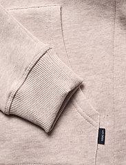 Les Deux - Piece Hoodie - hoodies - light brown melange/navy-lt. blue - 2