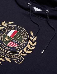 Les Deux - Egalité Hoodie - hoodies - dark navy with multicolor artwork - 2