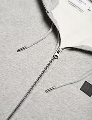 Les Deux - Clinton Zipper Hoodie - light grey melange/black - 2