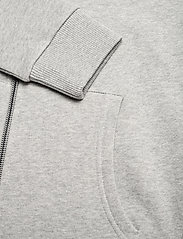Les Deux - Clinton Zipper Hoodie - light grey melange/black - 3