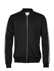Hermité Track Jacket - BLACK/DK. OLIVE GREEN