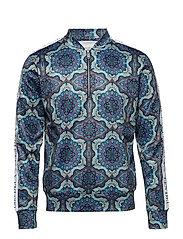 Psychedelique Ribbon Track Jacket - AOP PLACID BLUE