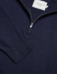 Les Deux - Edgar Half Zip Wool Knit - half zip - dark navy - 2