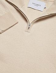 Les Deux - Edgar Half Zip Wool Knit - half zip - ivory - 4