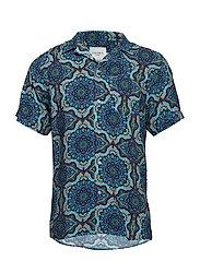 Psychedelique Shirt - AOP PLACID BLUE