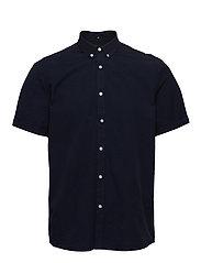 Lyon Seersucker SS Shirt - DARK NAVY