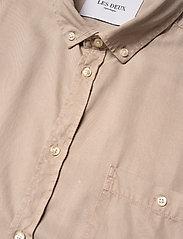 Les Deux - Leonardo Tencel Twill SS Shirt - chemises à carreaux - dark sand - 3