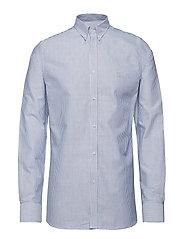 Christoph Oxford Shirt - STRIPE DARK NAVY