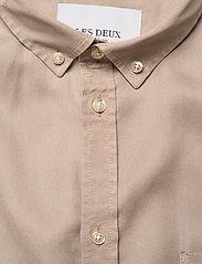 Les Deux - Laurent Tencel Twill Shirt - chemises à carreaux - dark sand - 2