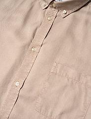 Les Deux - Laurent Tencel Twill Shirt - chemises à carreaux - dark sand - 3