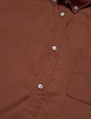 Les Deux - Laurent Tencel Twill Shirt - chemises à carreaux - rust red - 3