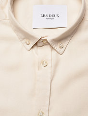 Les Deux - Harvey Tencel Dobby SS Shirt - geruite overhemden - ivory - 2