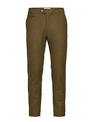 Como Wool Pants - DARK OLIVE GREEN