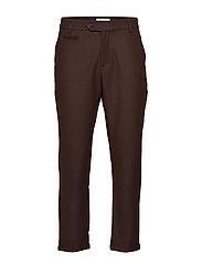 Como Wool Pants - TOBACCO BROWN