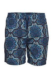 Psycadelic Swimshorts - AOP PLACID BLUE
