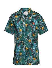 Boozt SS Shirt - DARK PETROL BLUE