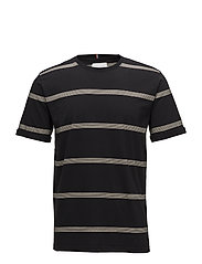Amitié SS T-Shirt - BLACK/ LIGHT BROWN