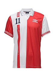 Les Deux X Umbro WC18 Denmark T-Shirt - RED/WHITE