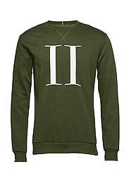 Encore Mouliné Sweatshirt - DARK GREEN MOULINé