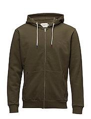 French Zipper Hoodie - STONE GRAY