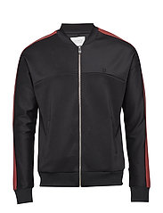 Hermité Track Jacket - BLACK/BRICK RED