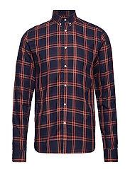 Boswell Shirt - DARK NAVY CHECK
