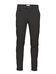 Como Pinstripe Suit Pants - BLACK/WHITE