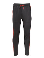 Hermité Track Pants - BLACK/BRICK RED