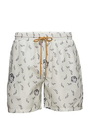 Serpente Swim Shorts - OFF WHITE