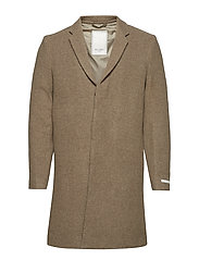 Frielle Tailored Coat - LIGHT BROWN