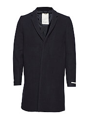 Frielle Tailored Coat - NAVY